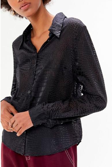 UO Sheer Burnout Button-Down Shirt