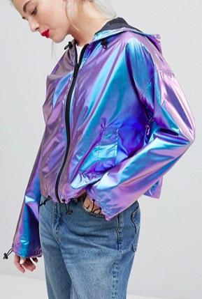 ASOS DESIGN Metallic Wind Breaker Jacket