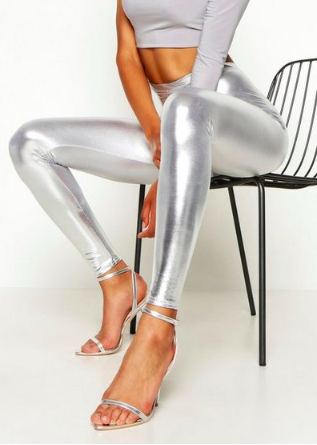 Boohoo Metallic Leggings