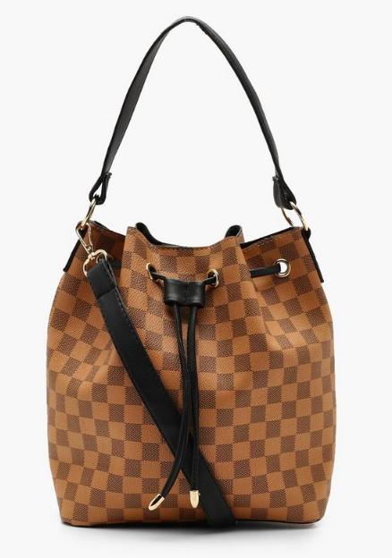 Boohoo Check Duffle Day Bag