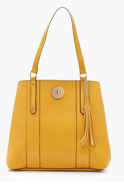 Boohoo Buckle Front Shopper Bag