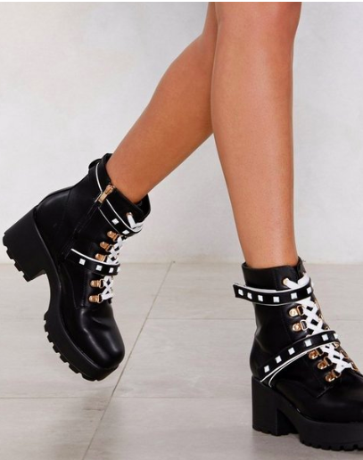 Nasty Gal Junk in the Trunk Chunky Boot