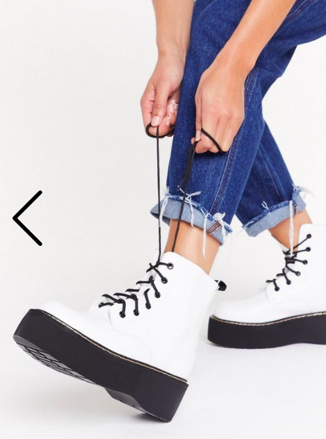 Nasty Gal Stomp My Boots Lace-Up Platform Boots