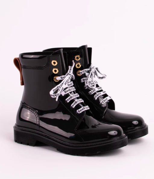 See by Chloe Combat Rain Boots