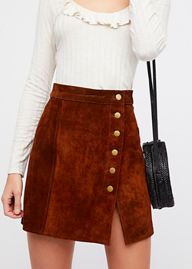 Understated Suede Mini Skirt