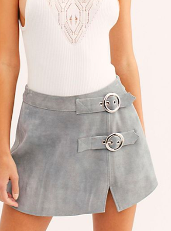 Understated Buckle Mini Skirt