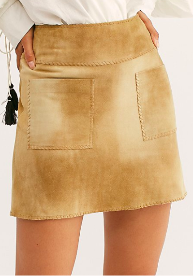 FP Whip Stitch Patch Mini Skirt