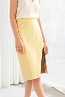 Shopbop Leather Midi Pencil Skirt