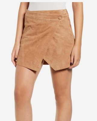 BLANKNYC Asymmetrical Suede Mini skirt