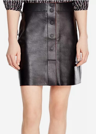 Sandro Milla Leather Skirt