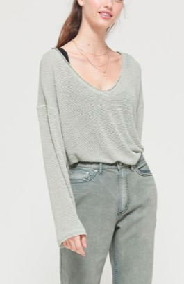 Out From Under Logan Jersey Slouchy Sweater