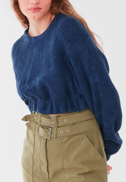 Urban Renewal Recycled Cropped Solid Sweater