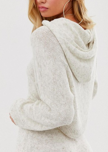 ASOS DESIGN two-piece natural yarn hooded sweater