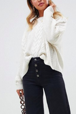 ASOS DESIGN cable sweater