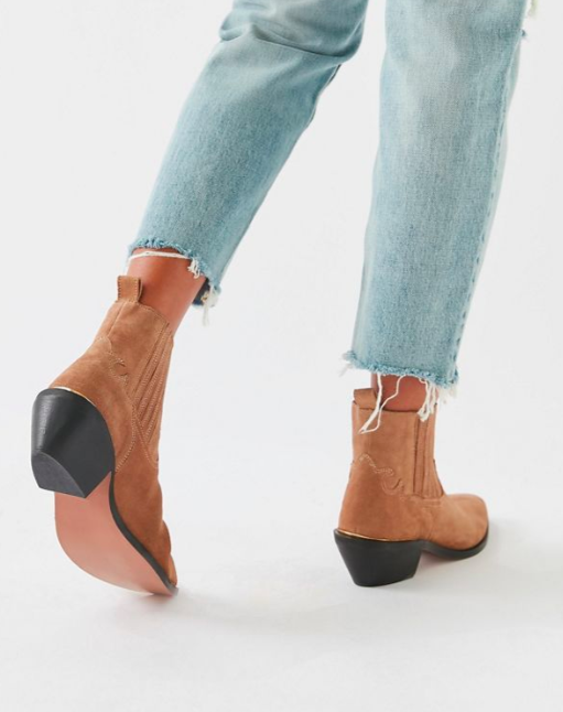 UO Tina Suede Western Boot