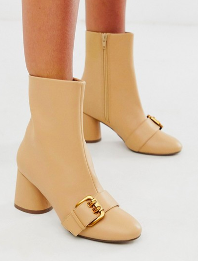 ASOS DESIGN Raindrop loafer boots in camel