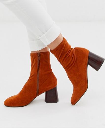 ASOS DESIGN Reckoning sock boots in tan