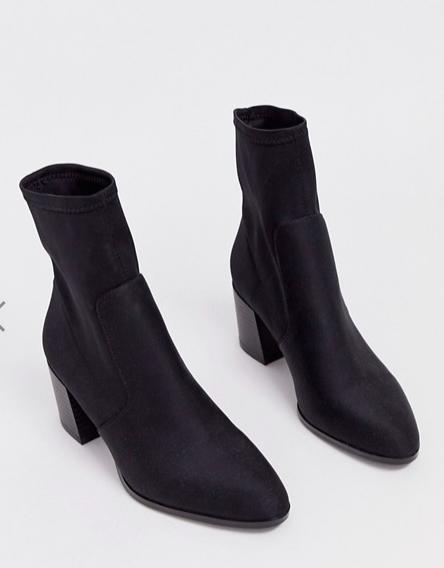 ASOS DESIGN Rosie neoprene sock boots in black