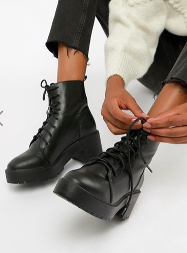 ASOS DESIGN Raider Chunky Lace Up Boots