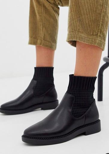 Amazing Basic Gluten-Free CheesecakeASOS DESIGN Anna chunky sock boots in black