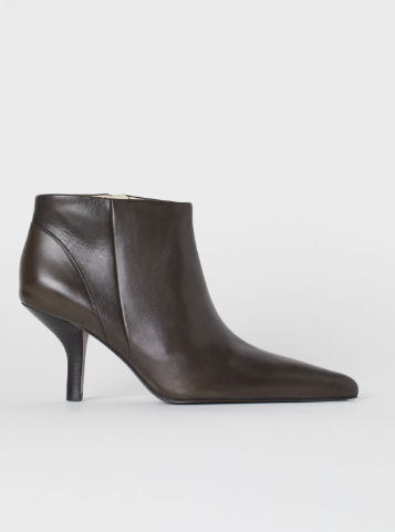 HM Leather Ankle Boots
