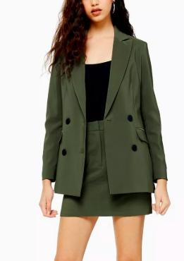 Topshop Khaki Mini Skirt