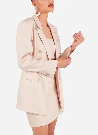 Tan X Karla High Waisted Linen-blend Mini Skirt Suit