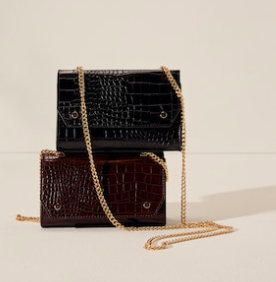 Mango Croc-effect bag