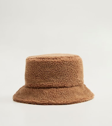 Mango Shearling bucket hat