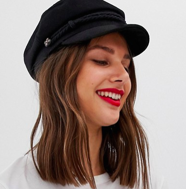 ASOS DESIGN high crown new wool baker boy hat