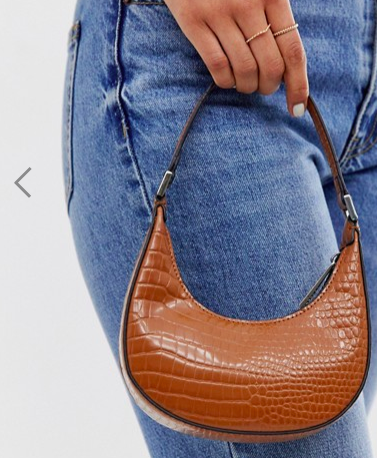 ASOS DESIGN micro 90s bag in croc