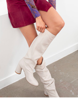 Stories Gathered Slouch Leather Boots