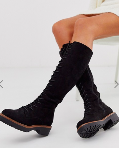 ASOS DESIGN Courtney chunky lace up knee high boots