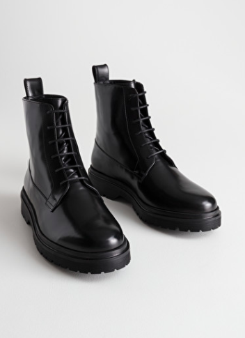 Stories Lace-Up Leather Boots