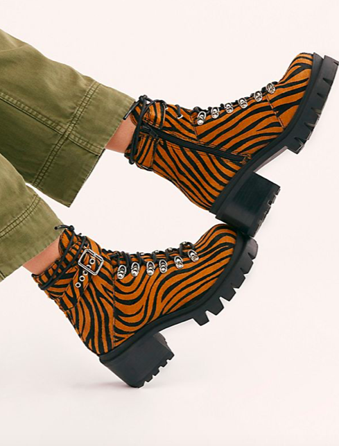 FP Printed Check Lace-Up Boot
