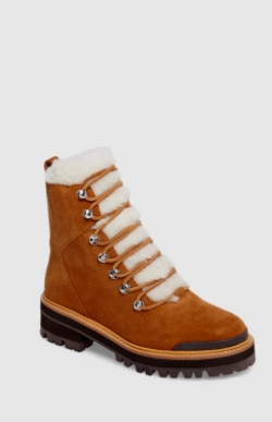Izzie Genuine Shearling Lace-Up Boot MARC FISHER LTD