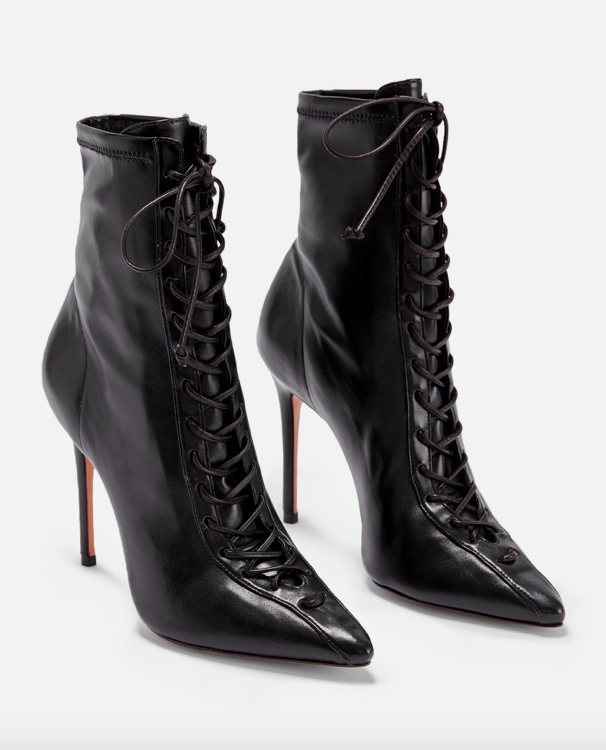 Tennie Pointed Toe Lace-Up Boot SCHUTZ