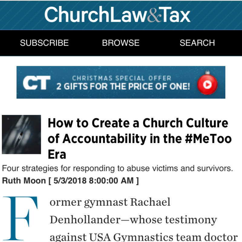 How to Create a Church Culture of Accountability in the #MeToo Era