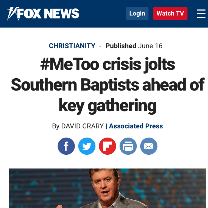 #MeToo crisis jolts Southern Baptists ahead of key gathering