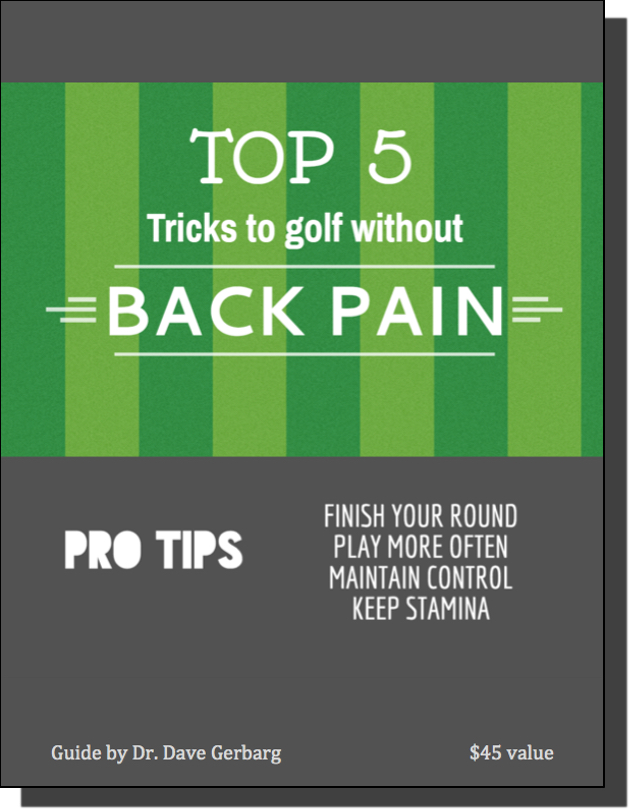 Download our Golf Back Pain Report for Free