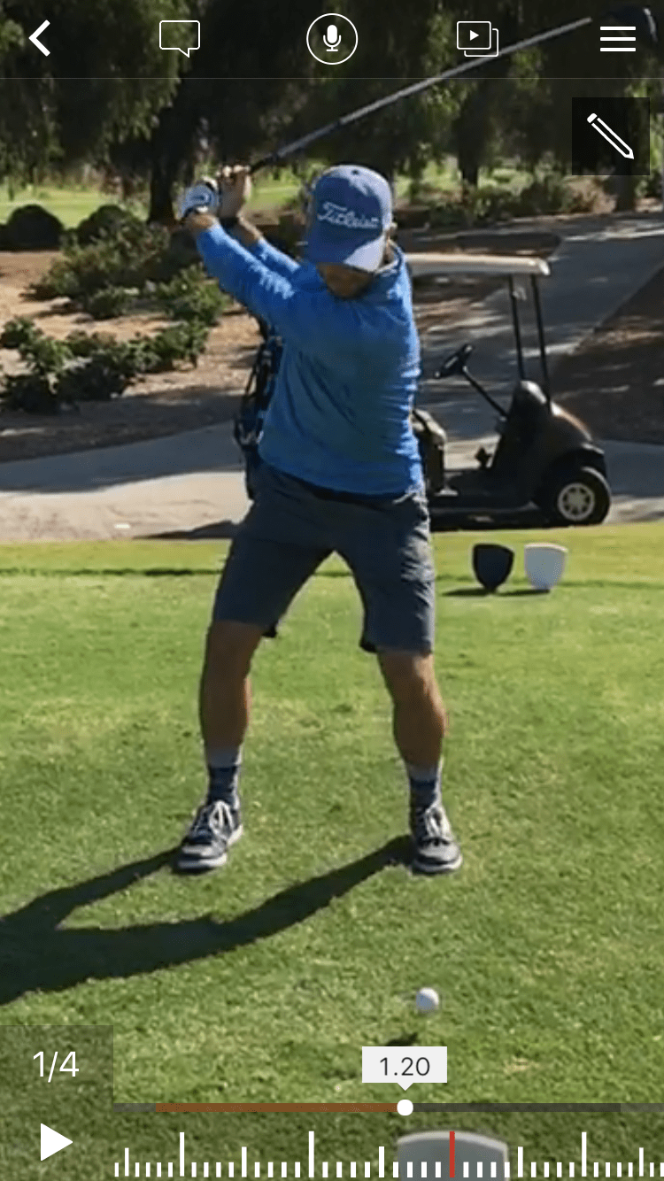 golf knee pain