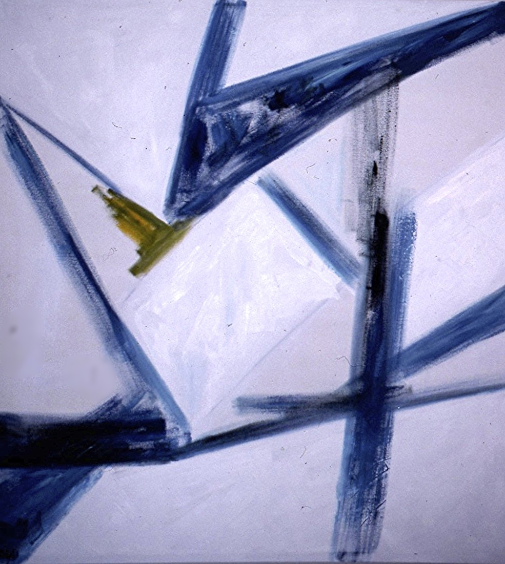 acrylic on canvas 60 in. x 60 in. 1983