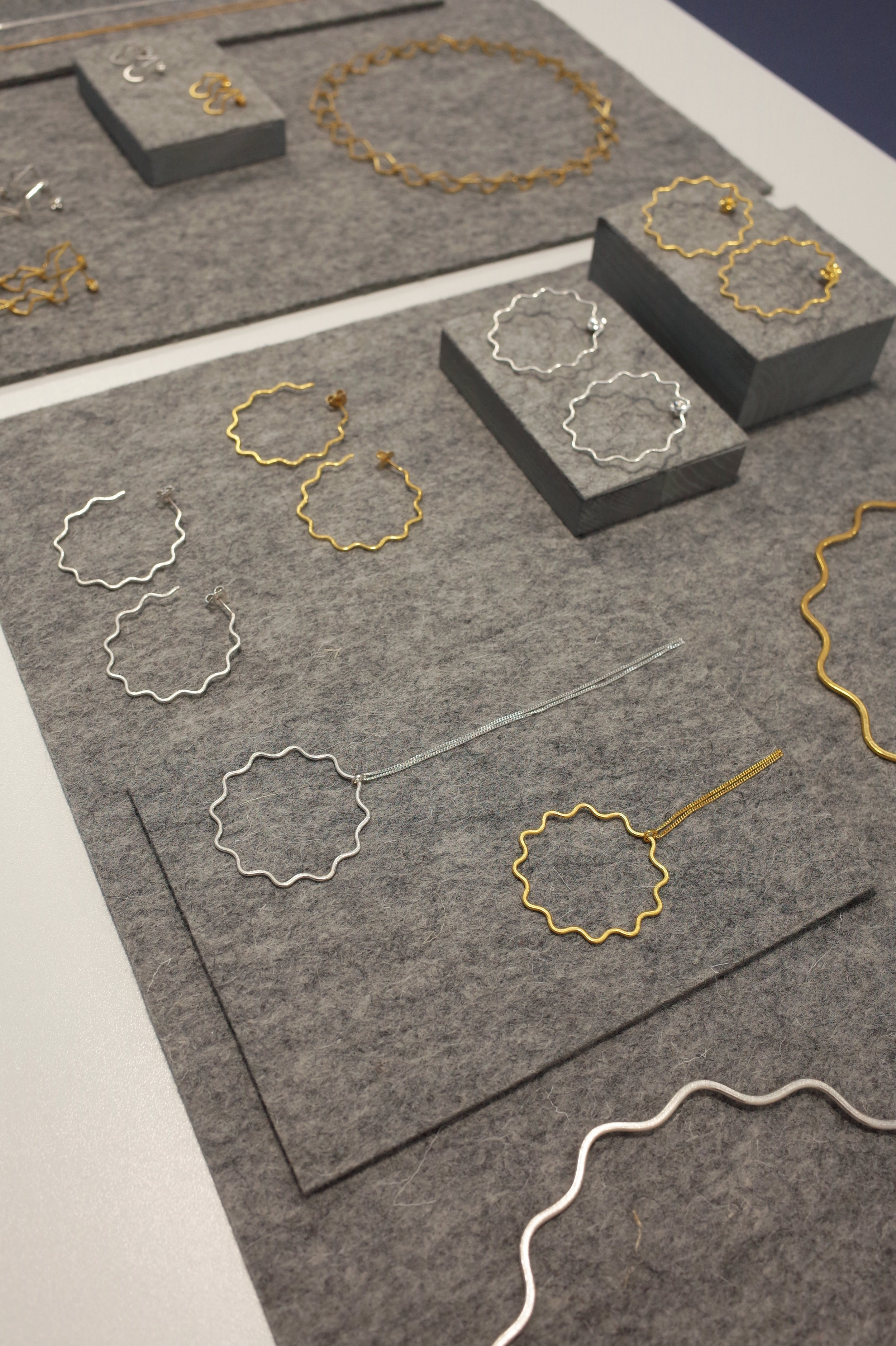 Heather Woof Jewellery Waves and ripples collection