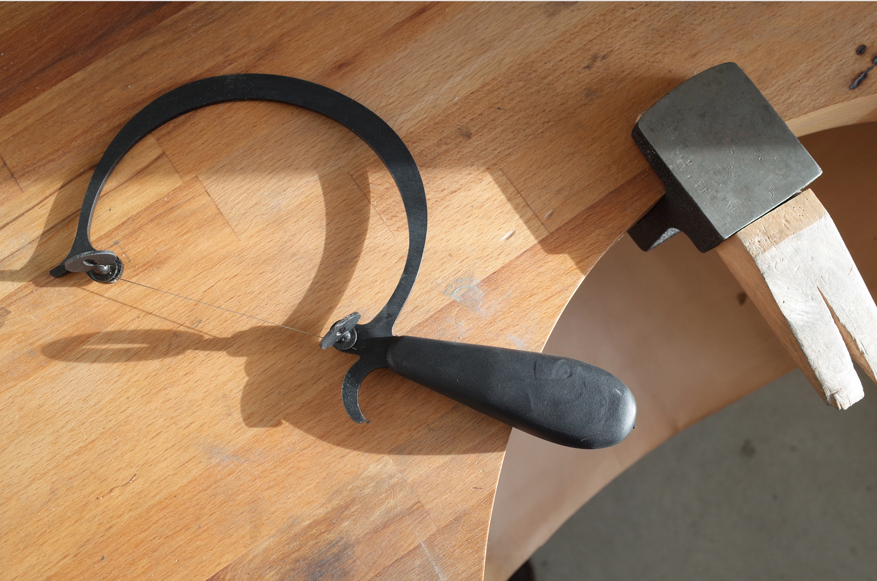 On the right, you can see my benchpeg. Used to support the jewellery while working, every piece that I make begins here.