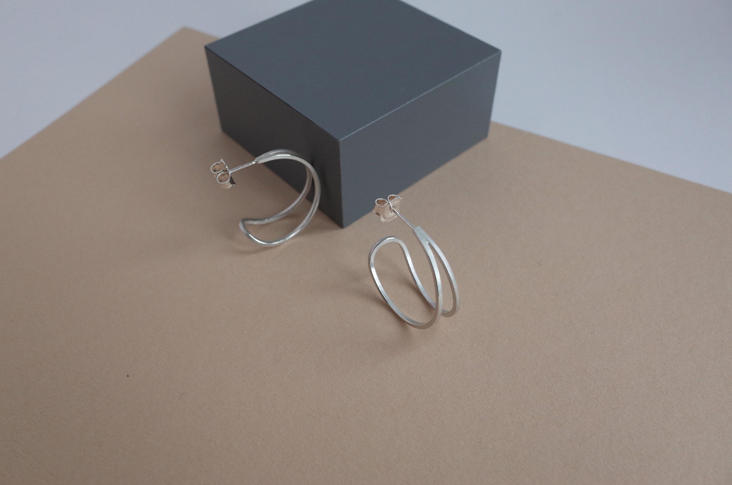 Teardrop hoop earrings by Heather Woof Jewellery