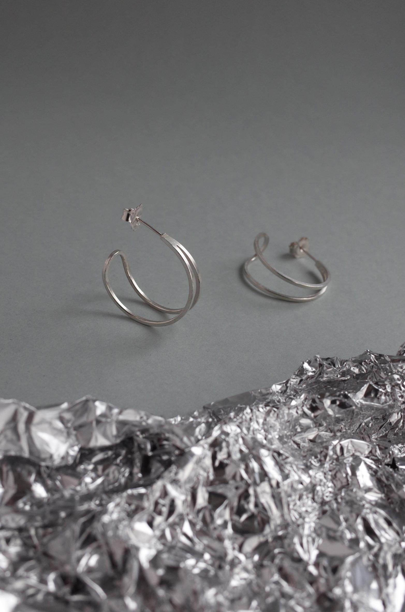 teardrop hoops silver