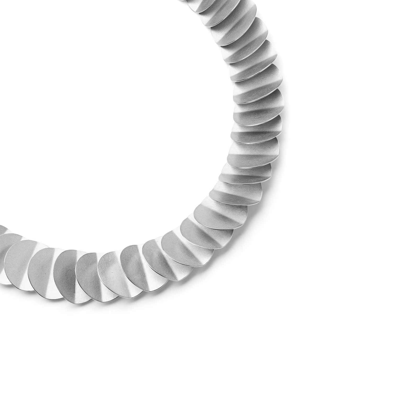 Heather Woof, Turbine necklace in silver. 2018