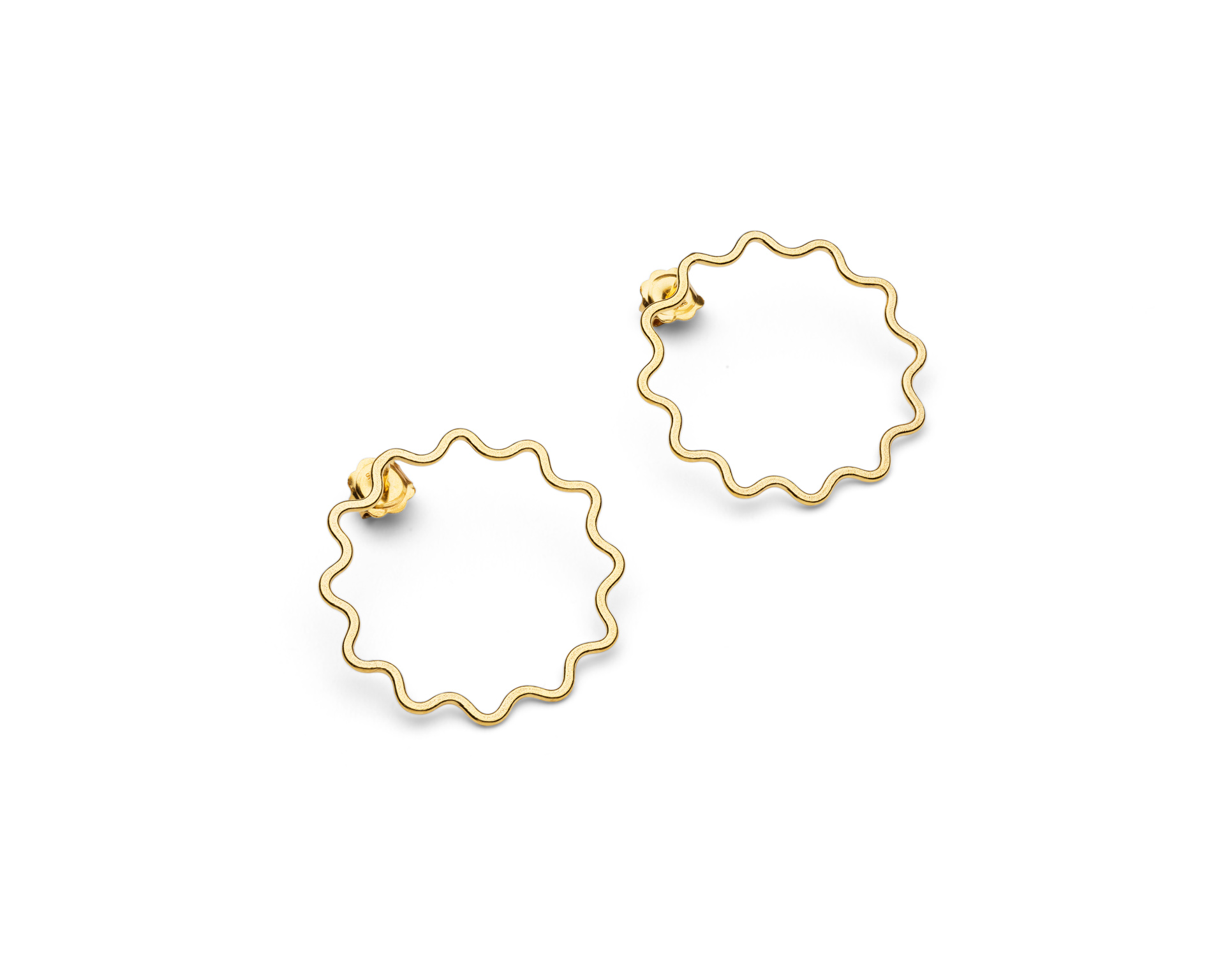 Ripple earrings gold vermeil