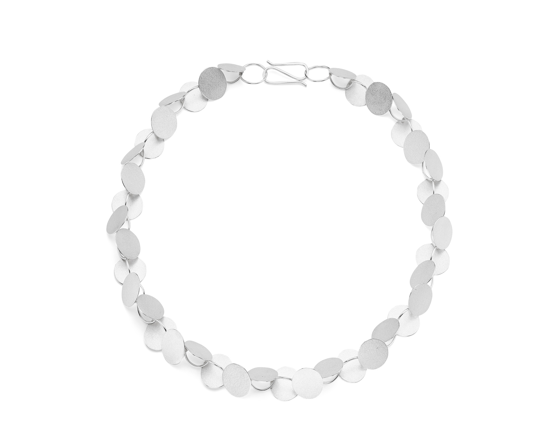 Heather Woof Jewellery.  Rhythm necklace in silver.