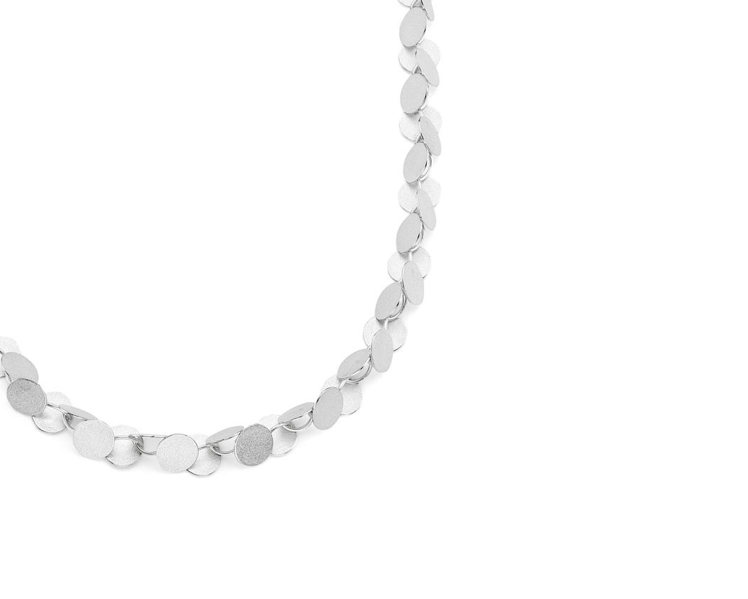 Heather Woof Jewellery.  Rhythm necklace silver.